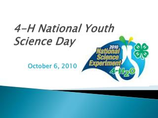4-H  National Youth Science Day