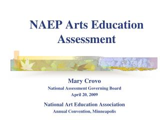 NAEP Arts Education Assessment