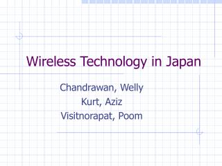 Wireless Technology in Japan
