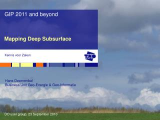 Mapping Deep Subsurface