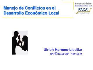 Manejo de Conflictos en el Desarrollo Económico Local