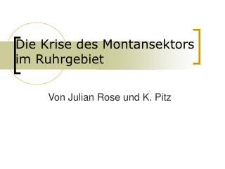 Die Krise des Montansektors im Ruhrgebiet