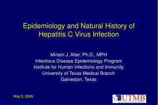 Epidemiology and Natural History of Hepatitis C Virus Infection