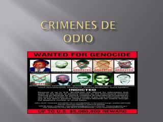 Crimenes  de  Odio