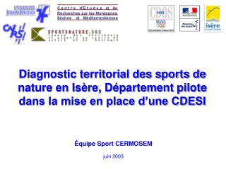 Équipe Sport CERMOSEM juin 2003
