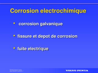 Corrosion electrochimique