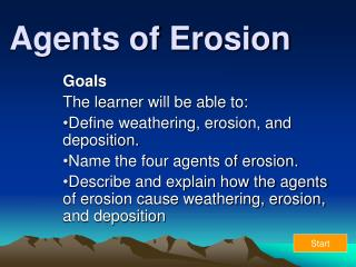 Agents of Erosion