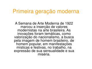 Primeira geração moderna