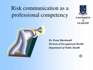 Risk communication as a professional competency