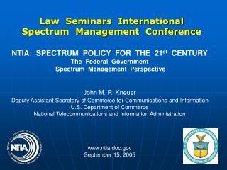 Law  Seminars  International Spectrum  Management  Conference