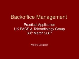 Backoffice Management