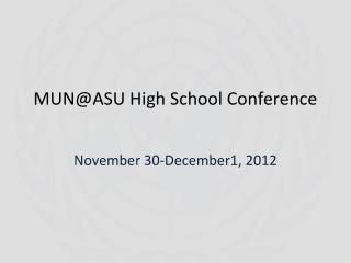 MUN@ASU High School Conference
