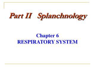 Part II   Splanchnology