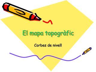 El mapa topogràfic