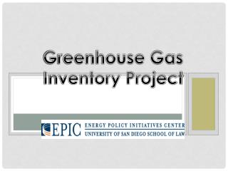 Greenhouse Gas Inventory Project