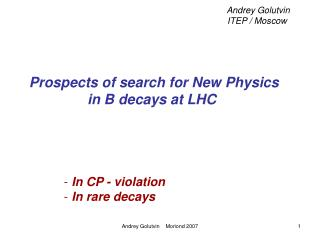 Prospects of search for New Physics in B decays at LHC
