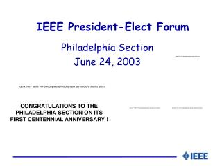 IEEE President-Elect Forum