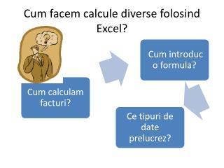 Cum facem calcule diverse folosind Excel?