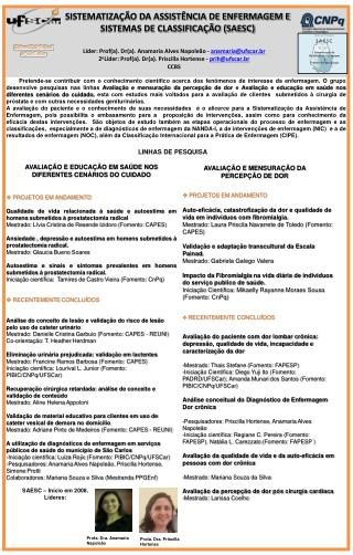 Líder: Prof(a). Dr(a).  Anamaria  Alves Napoleão -  anamaria@ufscar.br