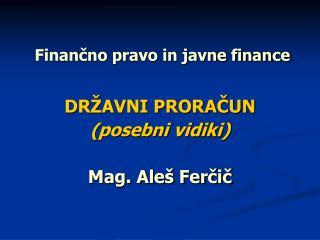 Finan?no pravo in javne finance