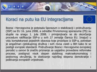 Koraci na putu ka EU integracijama