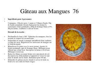 Gâteau aux Mangues  76