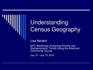 Understanding Census Geography