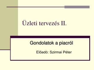 Üzleti tervezés II.