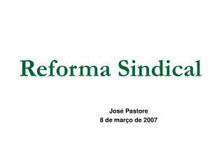 Reforma Sindical