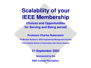 Scalability of your IEEE Membership