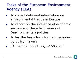 Tasks of the European Environment Agency (EEA)