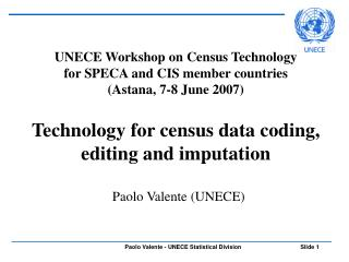 Technology for census data coding, editing and imputation