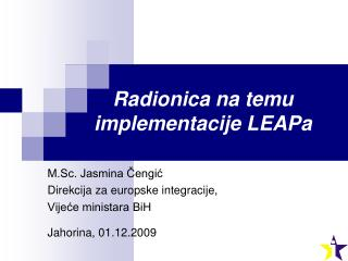Radionica na temu implementacije LEAPa