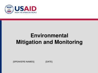 Environmental  Mitigation and Monitoring