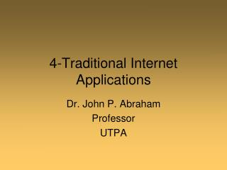 4-Traditional Internet Applications