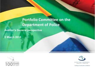 Portfolio Committee on the Department of Police