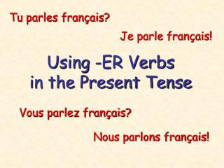 Using -ER Verbs in the Present Tense