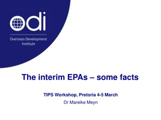 The interim EPAs � some facts
