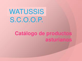 Catálogo de productos asturianos