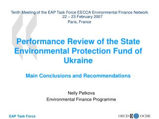 Nelly Petkova Environmental Finance Programme