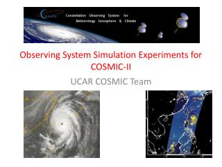 Observing System Simulation Experiments for  COSMIC-II