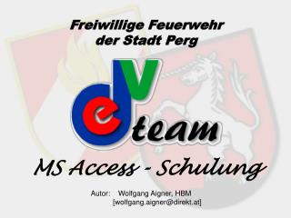 MS Access - Schulung