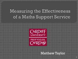 Measuring the Effectiveness of a Maths Support Service