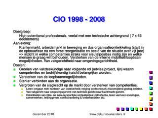 CIO 1998 - 2008