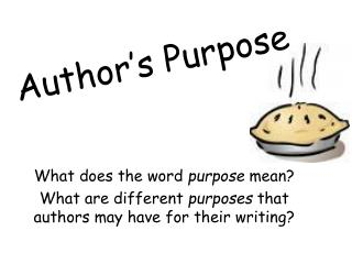Author�s Purpose