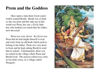 Prem and the Goddess