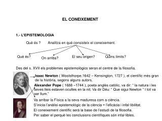 EL CONEIXEMENT
