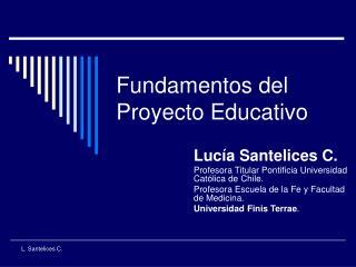 Fundamentos del Proyecto Educativo