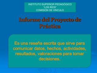 Informe del Proyecto de Práctica