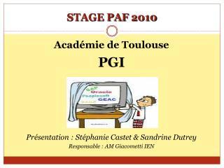 STAGE PAF 2010